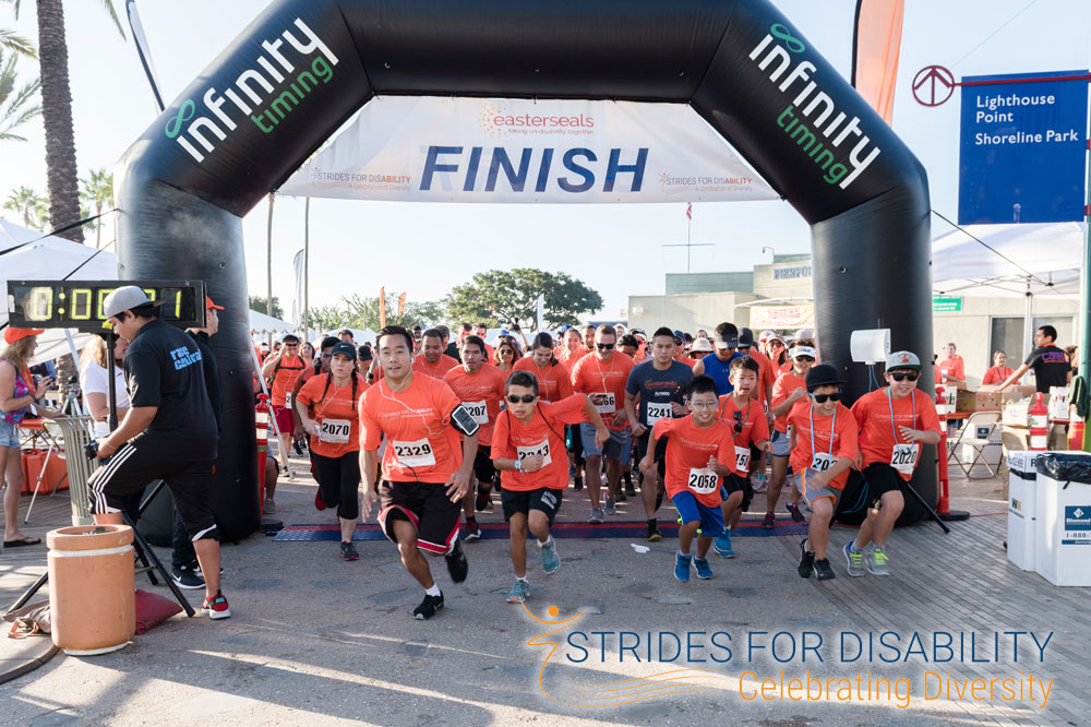 strides for disability finish line
